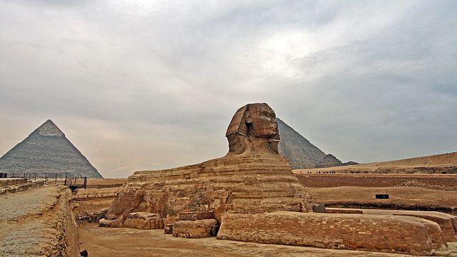 اكتشاف قطعة من تمثال لابي الهول شمال اسرائيل (خاص بخدمة دنيا