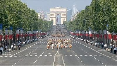 Hollande heralds 'victory' in Mali as African troops join Bastille Day parade