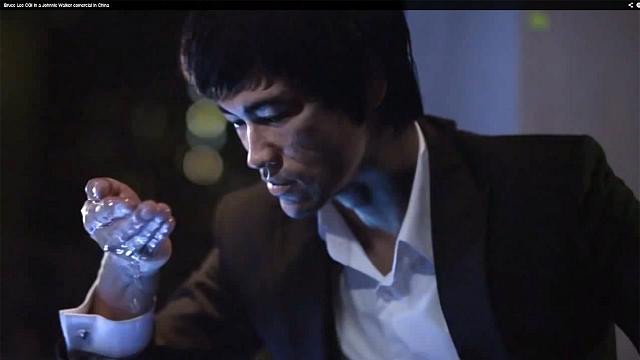 Un Bruce Lee de synthèse vend du whisky