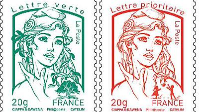 France : le nouveau timbre Marianne inspiré par la fondatrice des Femen