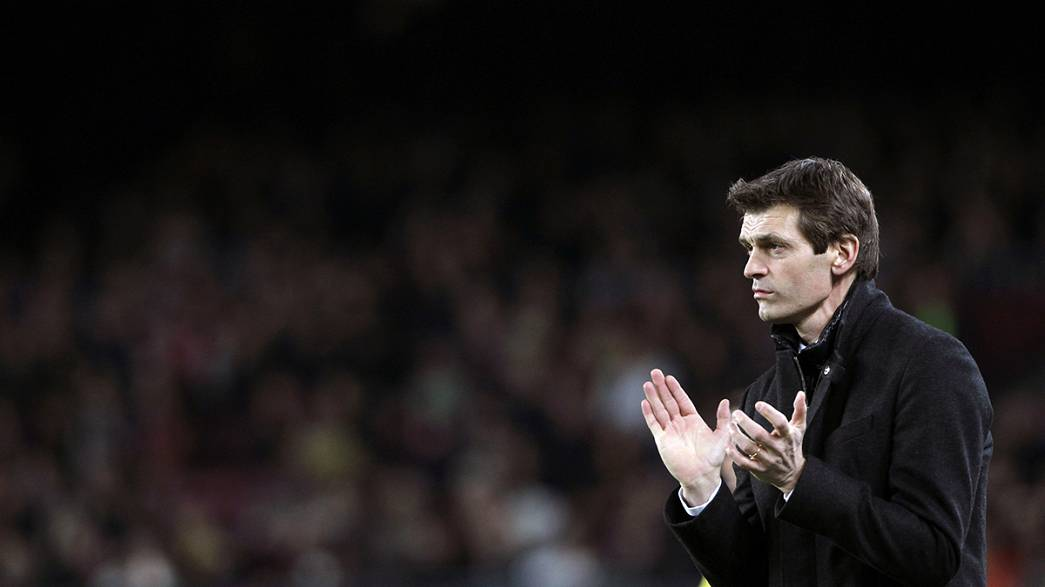 "Barcelona coach Vilanova to step down ""for health reasons"""
