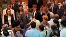 Spain's King Juan Carlos and Queen Sofia visit Santiago rail crash injured
