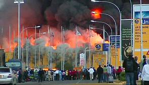 fire engulfs Kenya main airport