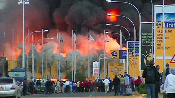 Aeroporto Nairobi : Aeroporto de nairobi em chamas euronews mundo
