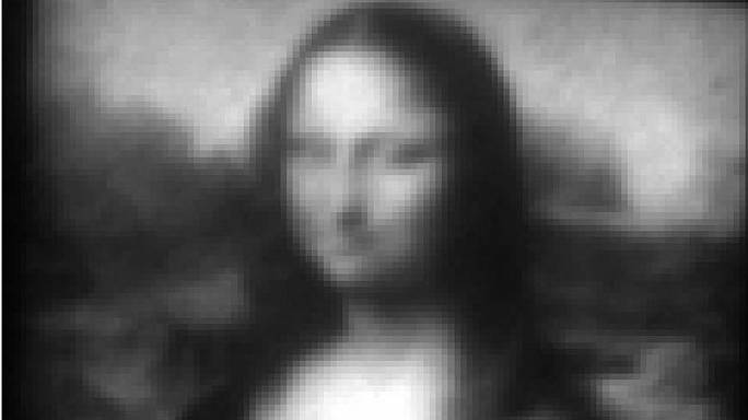 Mini Mona Lisa on world's smallest canvas