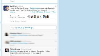 Une visite diplomatique organisée via Twitter