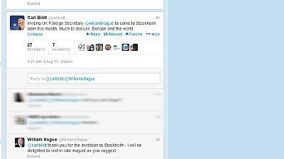 Minister's invitation through…Twitter