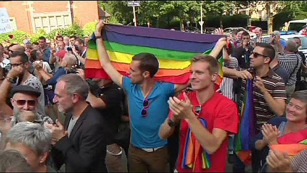 Protests against over anti-gay law