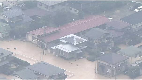 Two dead after torrential rain in Japan