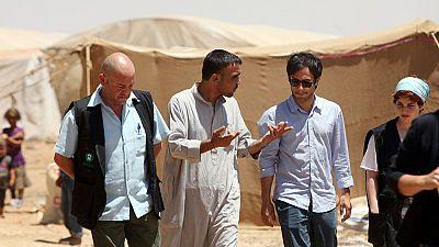 Gael García Bernal rencontre des réfugiés syriens en Jordanie