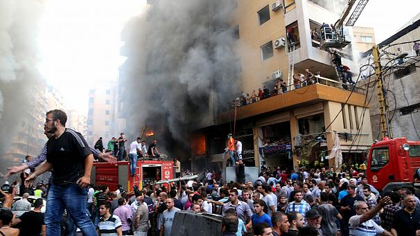 Huge deadly car bomb in Beirut, Lebanon