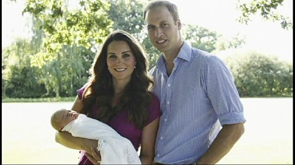 William and Kate release first official photos of baby George