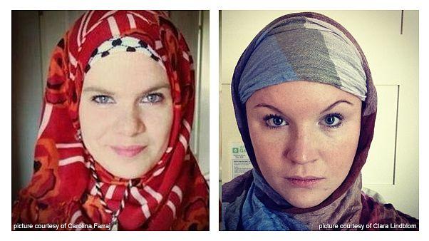 Muszlim fejkendőben tüntetnek a svéd nők