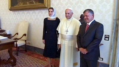 Vatican: Pope and Jordan's royal family say diplomacy 'only option' for Syria