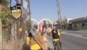 syrian rebels clash assad damascus