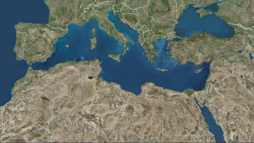 Tiros de mísseis no Mediterrâneo Oriental