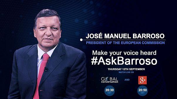 #AskBarroso permite-lhe questionar o presidente da União Europeia