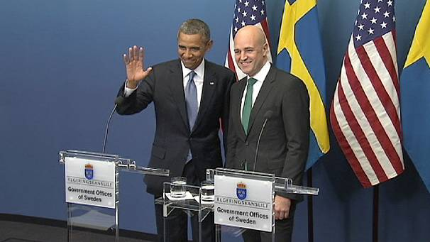 "Obama in Sweden says ""clear message"" must be sent to Syria"