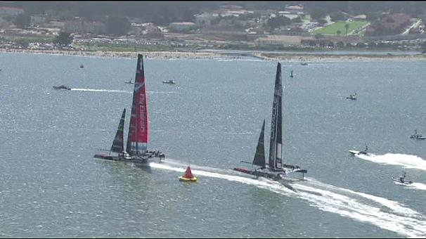 Emirates Team New Zealand sets early pace