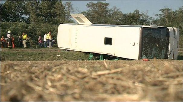 Hungary bus crash carrying basketball team kills 2