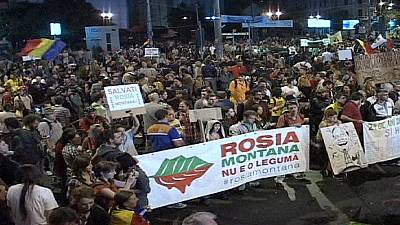 Romanian gold mine project scrapped amid nightly protests