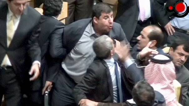 Mayhem as MP fires AK-47 at colleague in Jordan's parliament