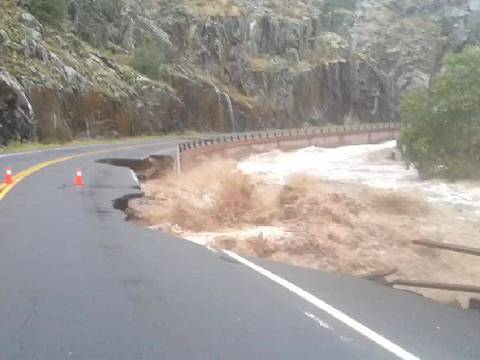 Flooding near Estes Park, Colorado