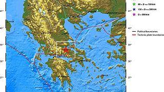 Δύο σεισμικές δονήσεις στην περιοχή της Αμφίκλειας