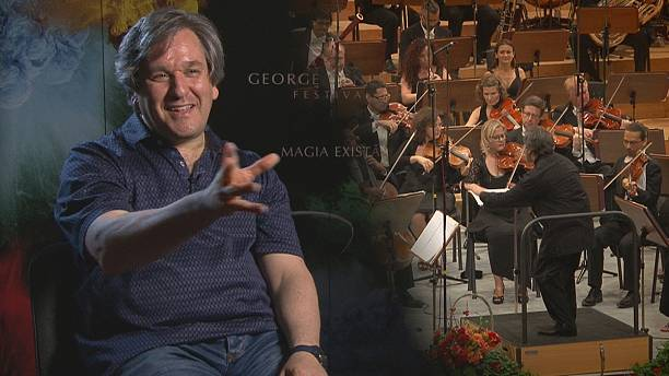 A maestro and his orchestra on tour from Italy to Bucharest