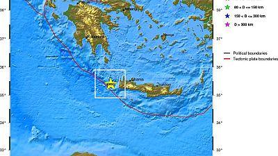 Erdbeben westlich von Kreta