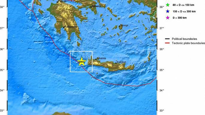Greece: Quake of 6.4 magnitude detected west of Crete
