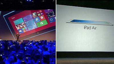 Battle of the tablets hots up as Nokia and Apple launch rival products on same day