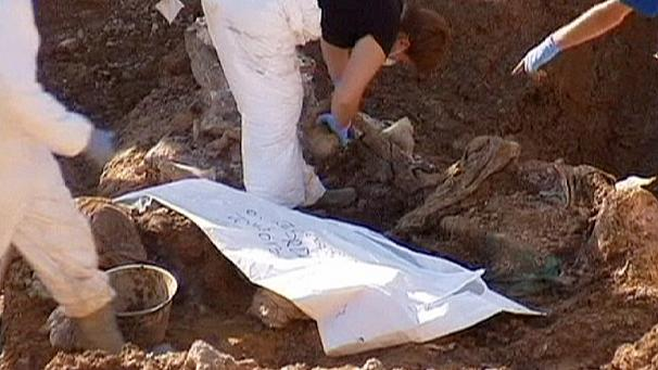 Hundreds of bodies exhumed from mass grave in Bosnia