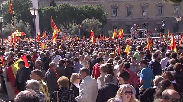 Thousands protest in Madrid against a European Court ruling that led to release of ETA prisoner