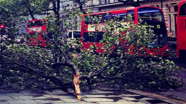 Severe storm batters southern Britain causing travel chaos