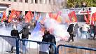 Turkish protesters clash with police over trial of policeman