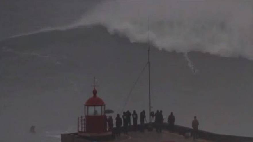 Video: Is this gigantic wave the biggest ever surfed?