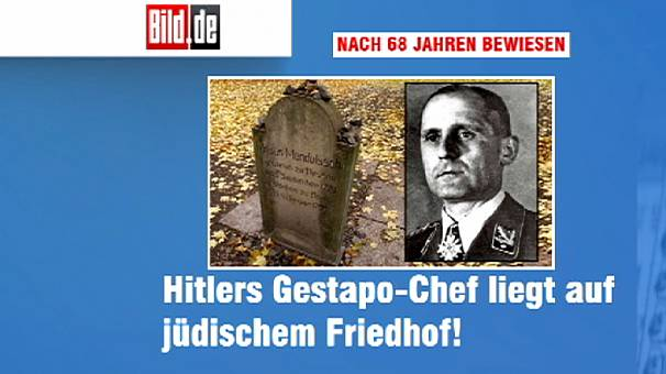 Gestapo chief Heinrich Mueller 'buried in Jewish cemetery'