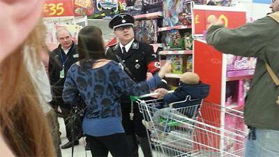 Man in full Nazi uniform upsets UK shoppers