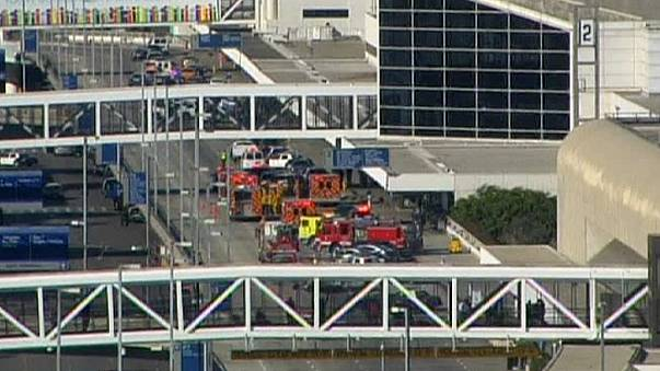 Suspect gunman in custody after several hurt in LA airport shooting