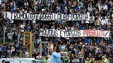 Da curva Lazio striscione per Alba Dorata