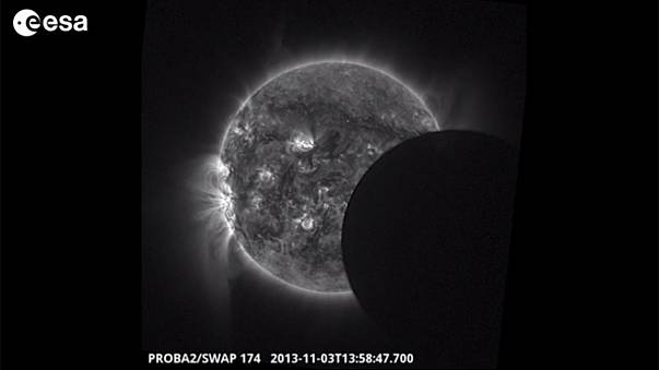 This solar eclipse footage is out-of-this-world!