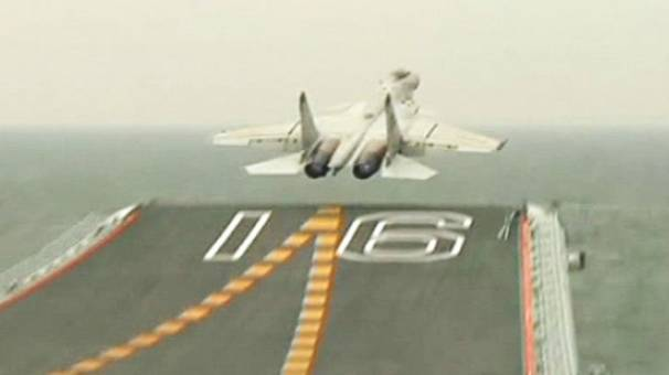 'Flying Sharks': China's first display of Jet Fighter Shenyang J-15-555