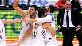 Real Madrid's Reyes shoots a magical hoop