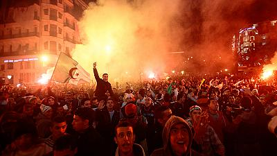 Algeria fans celebrate World Cup qualification