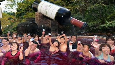 Japanese toast Beaujolais Nouveau by bathing in new vintage