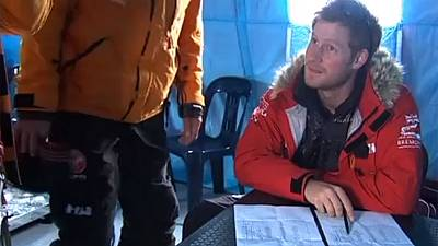 Prince Harry arrives in Antarctica ahead of 335km charity trek