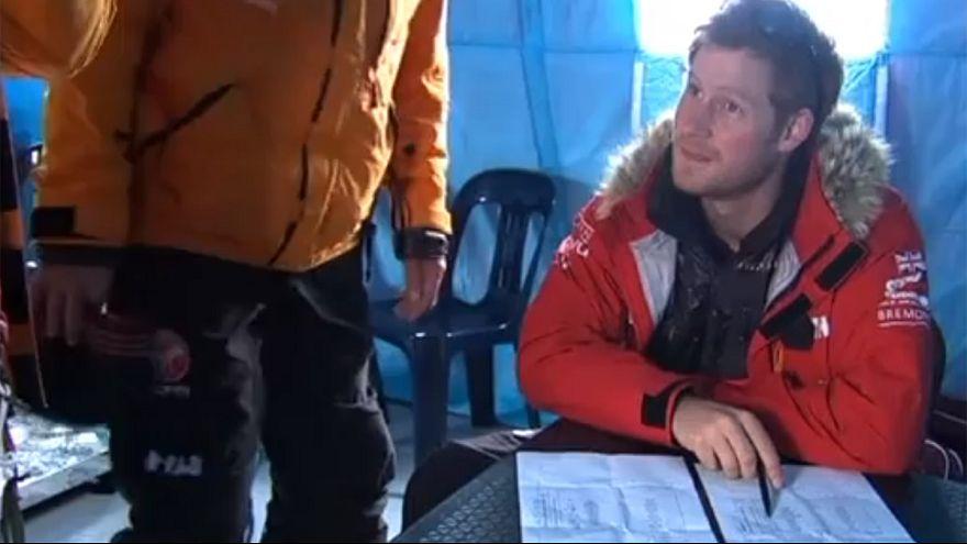 Trekking humanitaire en Antarctique pour le prince Harry