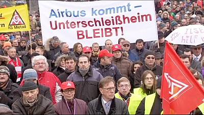 EADS German workers protest against possible job losses
