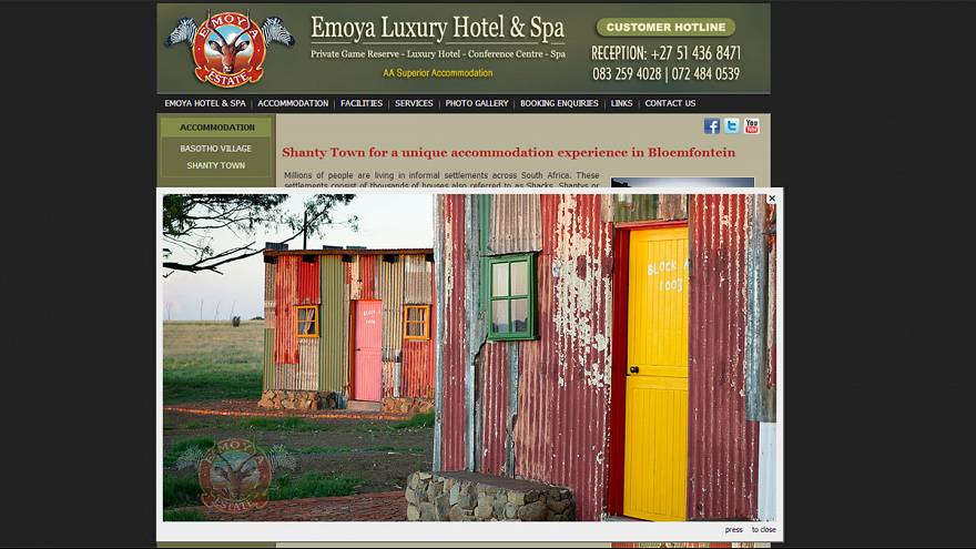 Afrique du Sud : un abri de bidonville grand luxe en guise de chambre d'hôtel